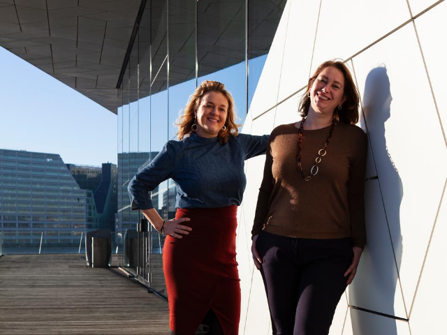 Trainers bestuurscommunicatie Janine Harbers en Marjolijn van Goethem