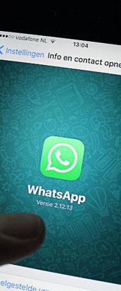 Whatsapp naar de minister